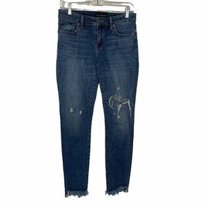 Lucky Brand Stella Skinny Jeans Distressed Frayed